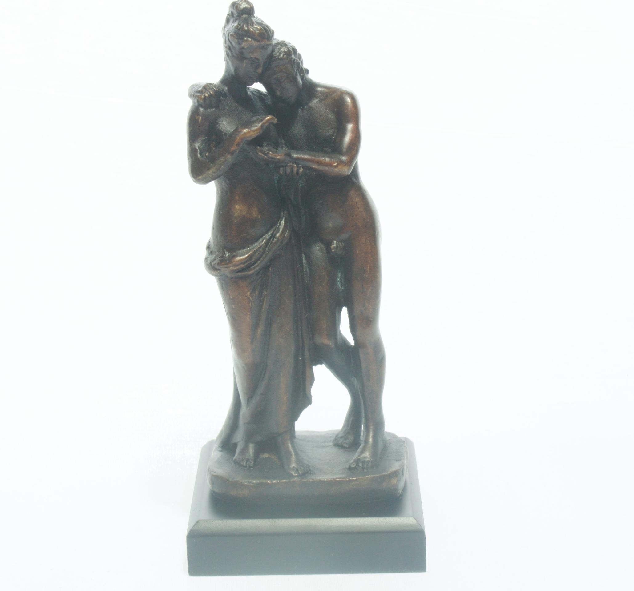 canova amor psyche bronze skulptur antike figur dekoration. Black Bedroom Furniture Sets. Home Design Ideas