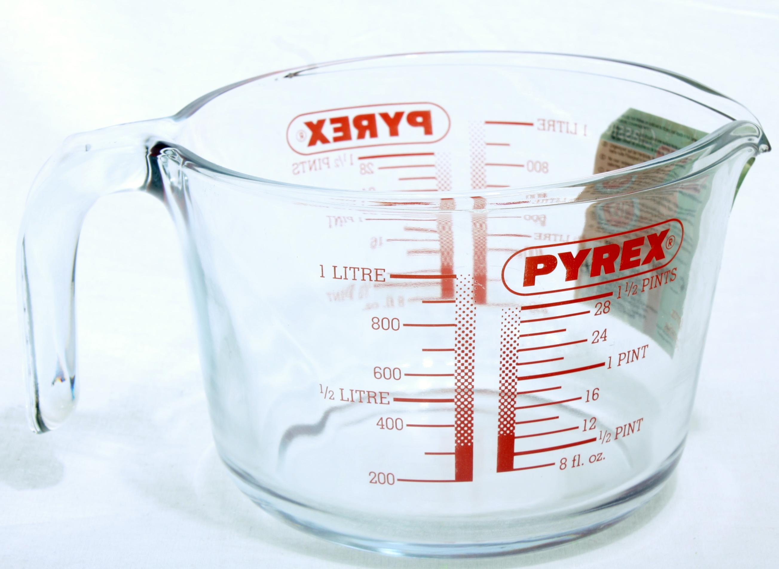 Pyrex-Classic-Messbecher-1-lt-Ruehrschuessel-Messkanne-Literbecher-Dosierhilfe