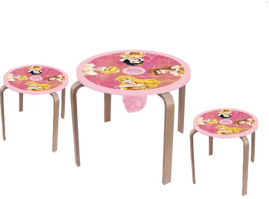 disney princess kindertisch mit 2 hockern tischgruppe kinderm bel sitzgruppe neu. Black Bedroom Furniture Sets. Home Design Ideas