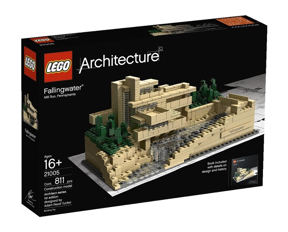 lego architecture 21005 fallingwater bausteine steine wasserfall architektur ebay. Black Bedroom Furniture Sets. Home Design Ideas