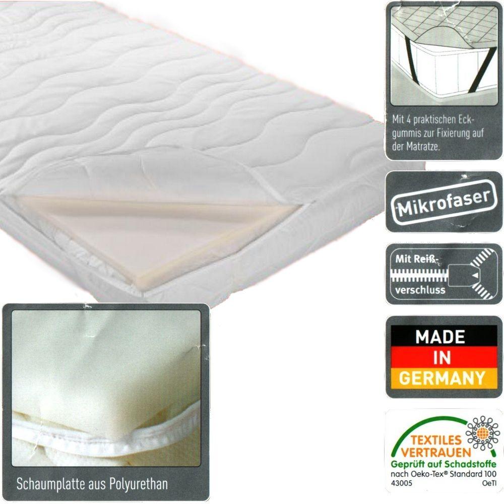 mikrofaser matratzen topper matratzenauflage 95x195cm. Black Bedroom Furniture Sets. Home Design Ideas