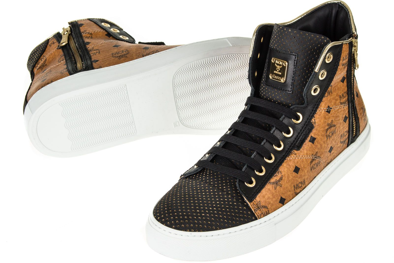mcm urban nomad iii high cognac monogram sneaker schuhe freizeitschuhe neu ebay. Black Bedroom Furniture Sets. Home Design Ideas
