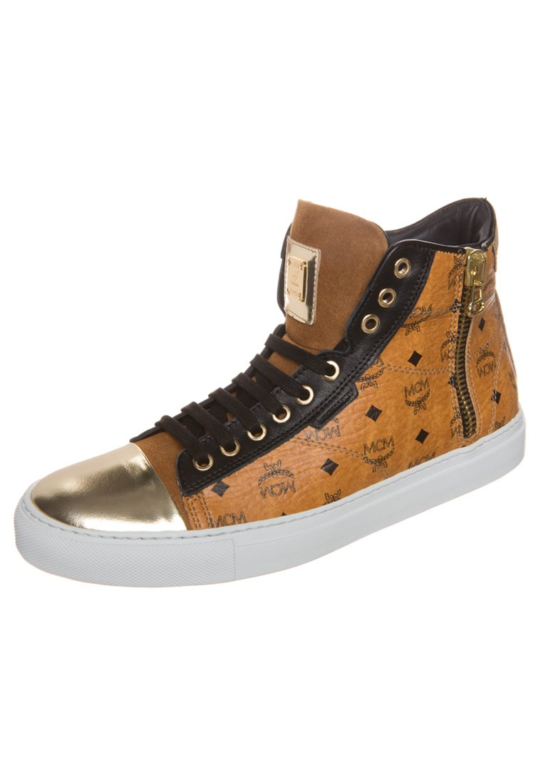 mcm urban nomad iii high cognac monogram sneaker schuhe freizeitschuhe neu. Black Bedroom Furniture Sets. Home Design Ideas