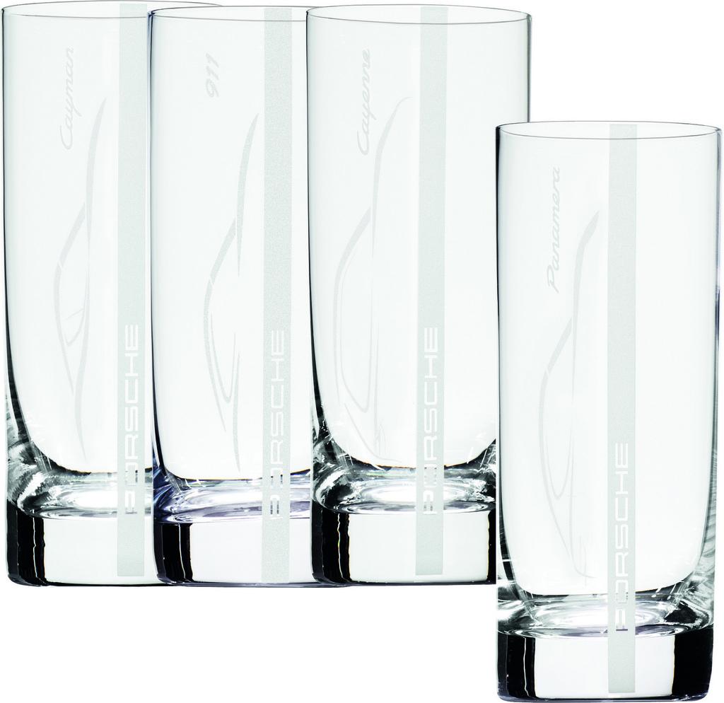 4 gl ser porsche cayenne panamera 911 cayman glas glasset for Cocktail 911