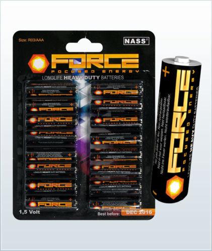 force 80x aaa mignon batterien heavy duty batterie akku. Black Bedroom Furniture Sets. Home Design Ideas