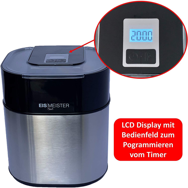 PerfectMix EISMEISTER Eismaschine Speiseeisbereiter 4in1 1,5 L Vol Eis maschine